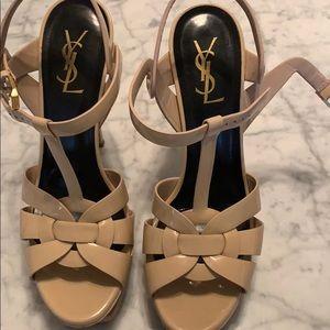 Saint Laurent tribute leather Nude Heels